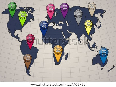 Online shopping worldmap business concept stock vector 117703735 online shopping worldmap business concept gumiabroncs Gallery