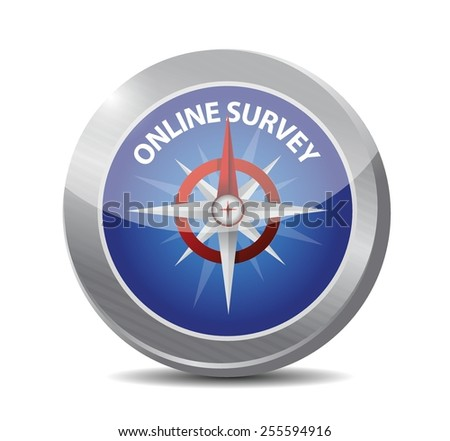 online survey compass illustration design over a white background