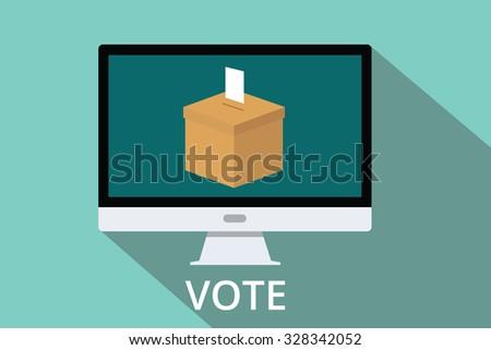 online vote box survey feedback voter opinion campaign - stock vector
