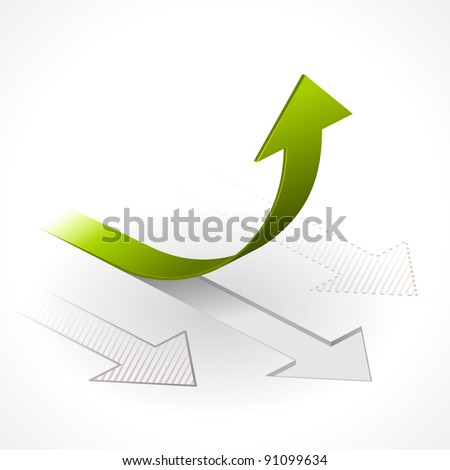 Onwards & Upwards Arrows - stock vector