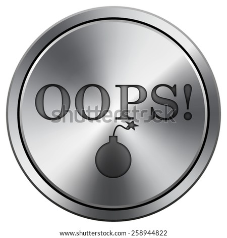 Oops icon. Internet button on white background. EPS10 Vector.  - stock vector