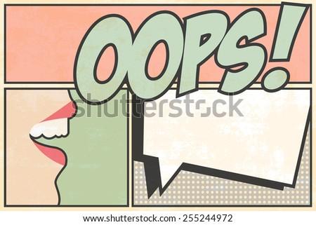 oops pop art, illustration in vector format - stock vector