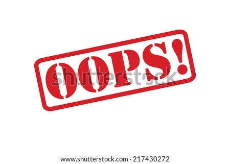 OOPS! Rubber Stamp vector over a white background. - stock vector