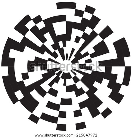 Op art, also known as optical art, is a style of visual art that makes  - stock vector