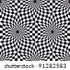 Op art, also known as optical art, is a style of visual art that makes use of optical illusions. Seamless - stock photo