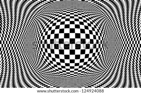 op art design black and white pattern concept for hypnosis unconscious chaos - Black And White Design