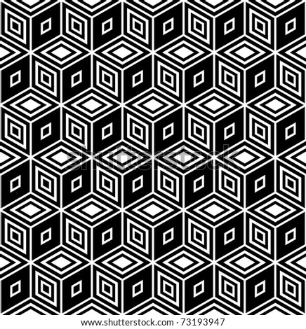 Op art design. Isometric structure. Seamless geometric rhombuses pattern. Vector illustration. - stock vector