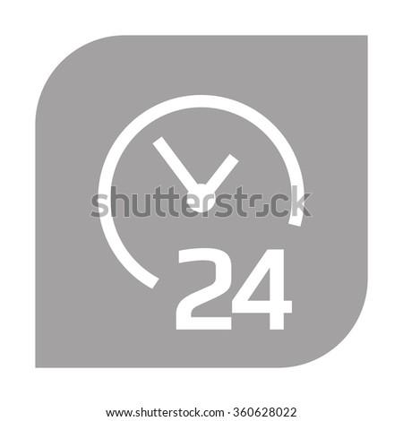 Open around the clock icons. - stock vector