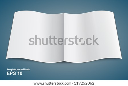 Open blank magazine for conference - stock vector