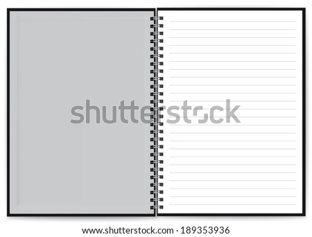 Open Blank Page notebook - stock vector