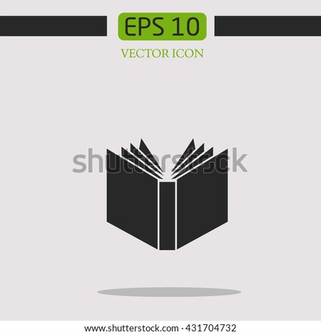 Open Book Symbol Wisdom Knowledgevector Icon Stock Vector Royalty