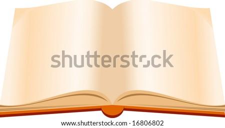 Open book cartoon - stock vector