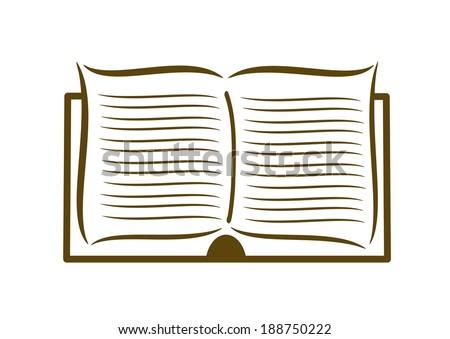 Open book - icon - stock vector