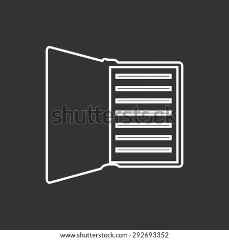 Manual book vector icon flat style stock vector 415872613 for Vector canape user manual