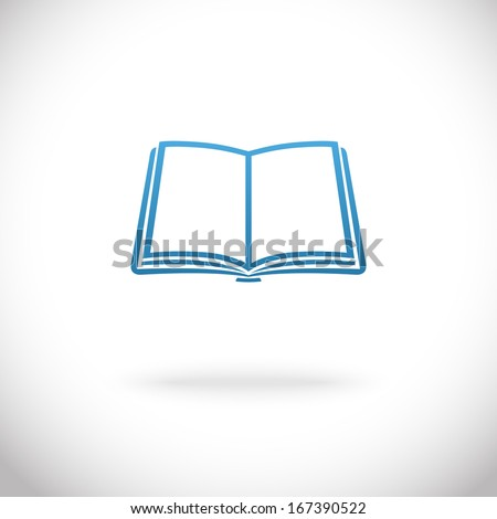 Open Image Icon Open Book Icon Vector