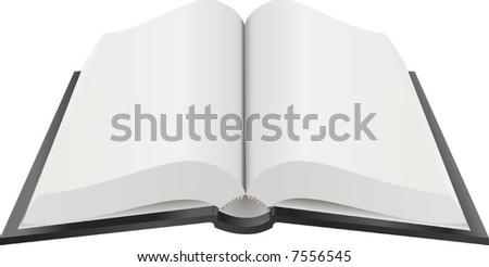 Open Book Illustration. A Vector illustration of an open book with blank pages