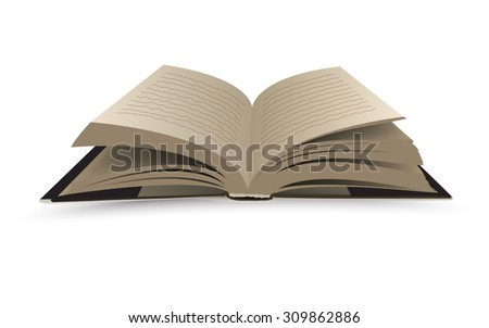 Open book - isolated vector illustration - stock vector