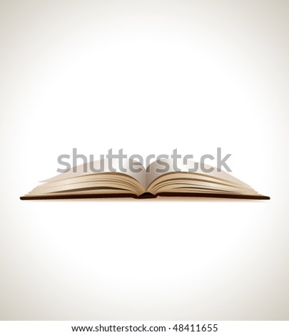 open book on soft background - stock vector