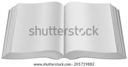 Open book paperback limp binding. Illustration in vector format - stock vector
