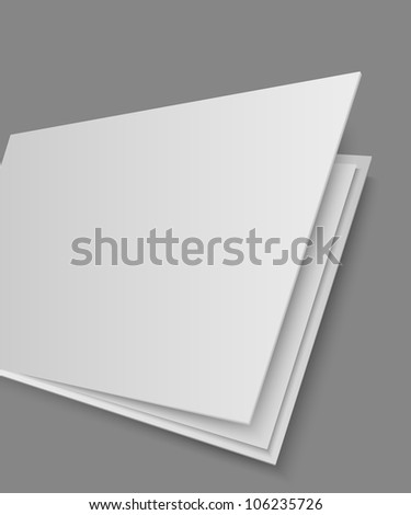 Open book's page on gray background - stock vector