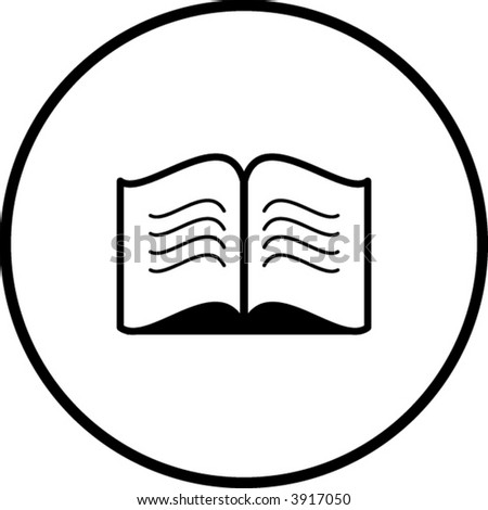 open book symbol - stock vector