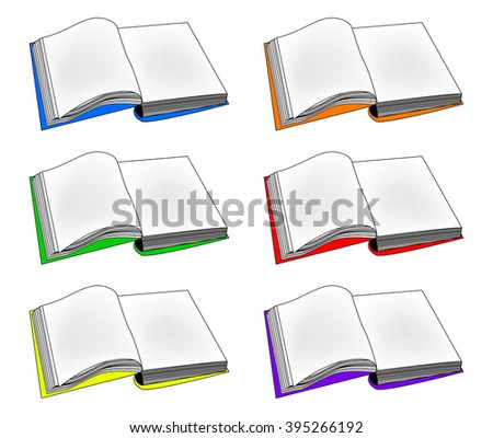Open book vector clipart, symbol, icon  design. Illustration isolated on white background. - stock vector