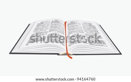 Open book. Vector eps10 illustration. - stock vector