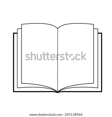 how to draw an open book