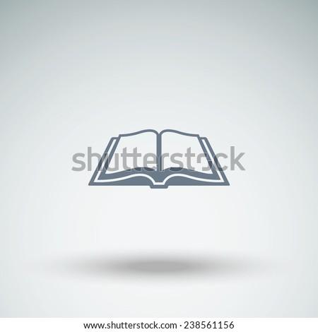 Open book vector icon - stock vector