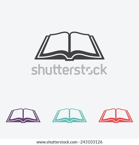 Open book vector icon - stock vector