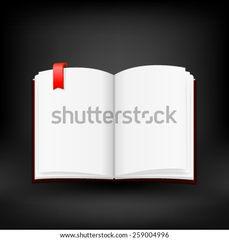 Open book with blank pages. Vector - stock vector