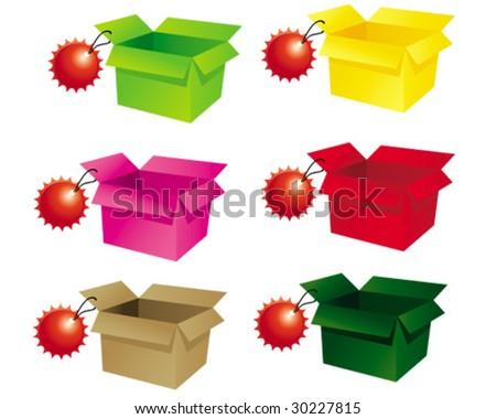 Open box - stock vector