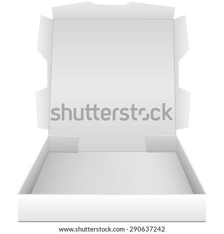 open box for pizza isolated on  white background