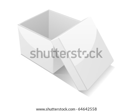 Open box isolated on white background - stock vector