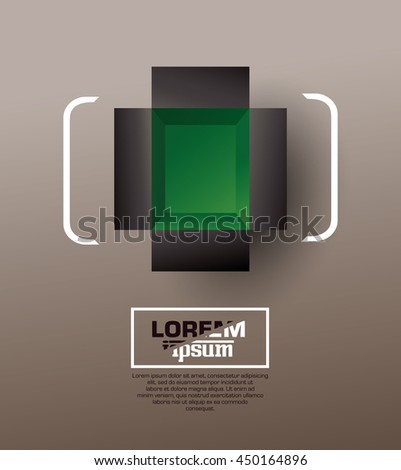 Open box. Top view. Vector illustration. - stock vector