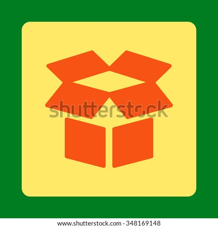 Open Box Vector Icon Style Flat Stock Vector (2018) 348169148 ...