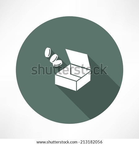 open box with trifle - stock vector