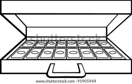 Open Briefcase Vector Open Briefcase With Money
