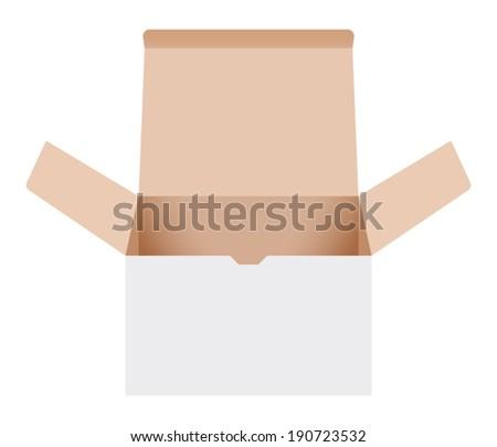 Open cardboard box. Vector illustration - stock vector