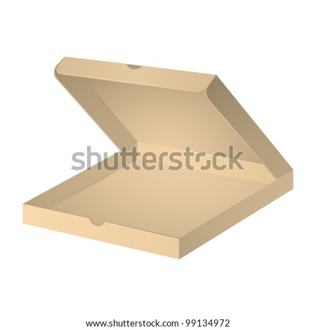 Open carton pizza box, package