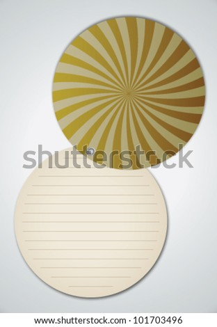 Open Circle Spiral Ray Cover Notebook Vector