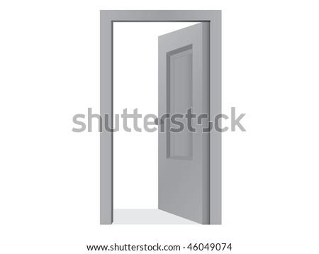 Open door (icon of exit, quit) - stock vector