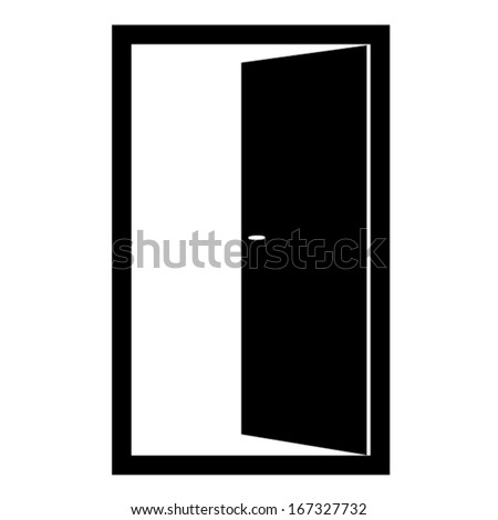 OPEN DOOR VECTOR - stock vector