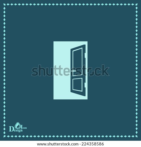 Open Door Icon Vector Open Door Vector Icon