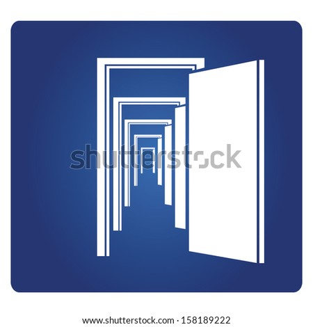 open doors - stock vector