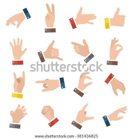 open empty hands showing different gestures stock vector royalty