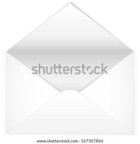 Open envelope. Vector illustration - stock vector