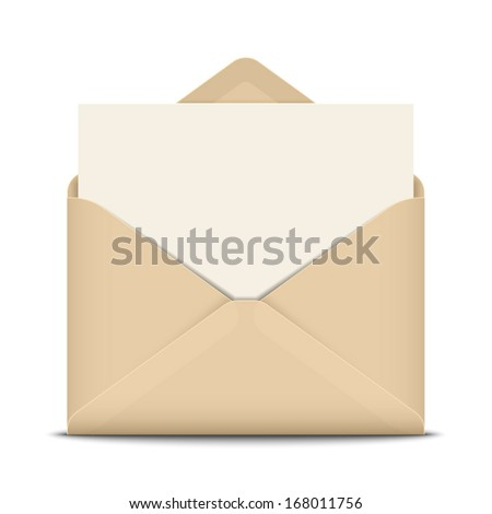Open envelope, vector illustration