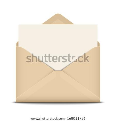 Open envelope, vector illustration - stock vector