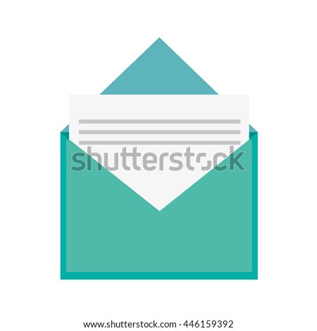 open envelope with document icon